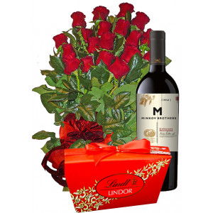 Thanks for the help - roses, wine, chocolates