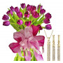 Agatha # 1- bouquet of tulips and Swarovski crystal