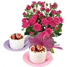 Geraldine # 5 - Roses and Tea cups set