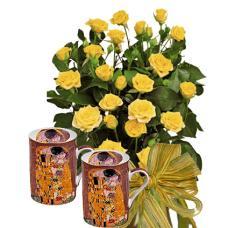 Dolores # 2 - Roses and THE KISS - Mug Set