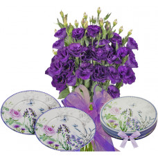 Gabriella # 7 - Flowers and Set of 2 Plates