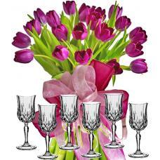 Agatha # 7 - Flowers and Wine Glasses