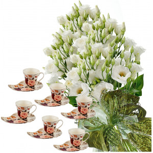 Sofia # 5 - Flowers and Coffee Set