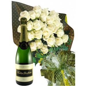 Поздравления! - Шампанско и рози