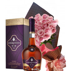 An evening of romance - Roses, Cognac