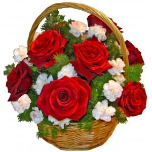 Melrose - Roses in basket