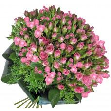 Фантазия в розово - Букет с рози
