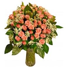 Rosalind - Roses in a vase
