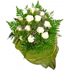 Alice - White roses bouquet