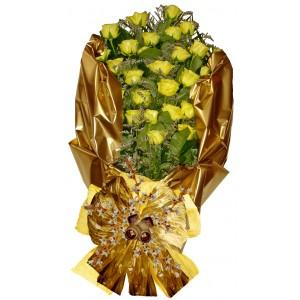 Евелин - Букет с рози