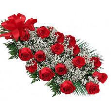 Червени рози с любов