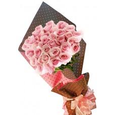 Красива в розово - Букет от рози
