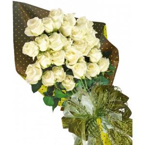 Бели рози - Букет от рози