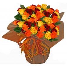 Таити - Букет с рози микс