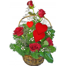 Be Mine - rose basket