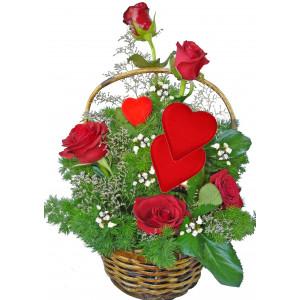 Бъди моя - кошница с рози