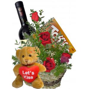 Защото те обичам -  рози и вино