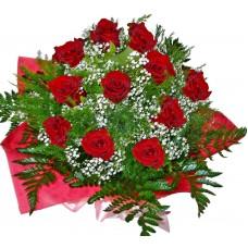Обожавам те! Букет от рози