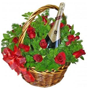 Изпращам цялата си любов - рози и вино