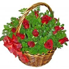 Фантазия от рози - Кошница с рози