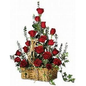 Разбивач на нежни сърца - Кошница с рози