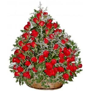 Касандра - Голяма кошница с рози