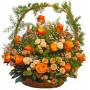 Maritsa - Basket with multicolored roses.