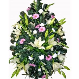 Sympathy fresh floral arrangement
