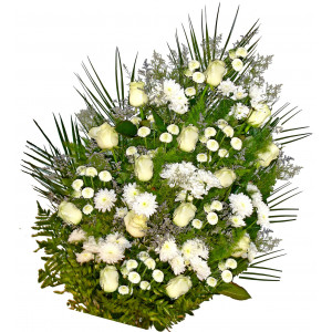 Sympathy bouquet in white