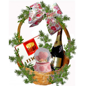 Romantic heart - Gift basket