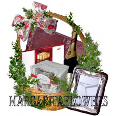 Lovely wedding gift basket