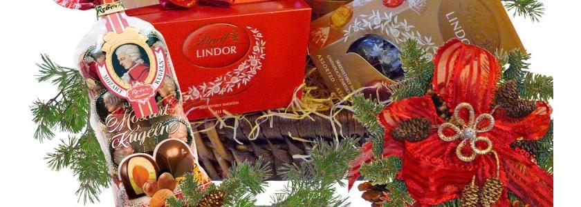 Кошници за Коледа с лакомства