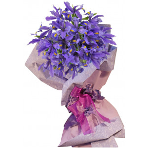Blue Diamond - Iris bouquet