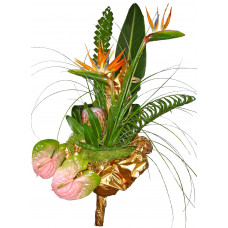Flamingo - Exotic flower bouquet