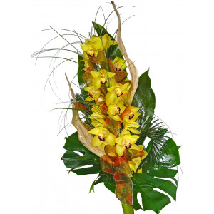 Elegant wish - orchids bouquet
